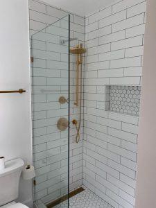 Turn Powder Room Into a Full Shower in a Small Adu Unit