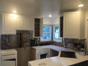 Kitchen Cabinets Refinish With New Countertop – Walnut Creek